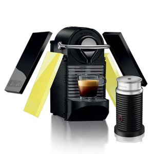 CAFETEIRA-PIXIE-CLIPS-BLACK-E-VERDE-NEON---AEROCCINO-110V-NESPRESSO