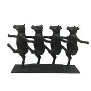 Escultura-Home---Collection-Vacas-Dancando-Preta