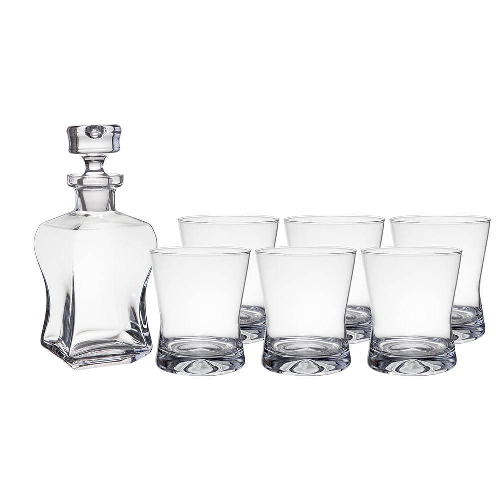 Conjunto Whisky Lifestyle Cristal Ecológico 7 Peças Krosno