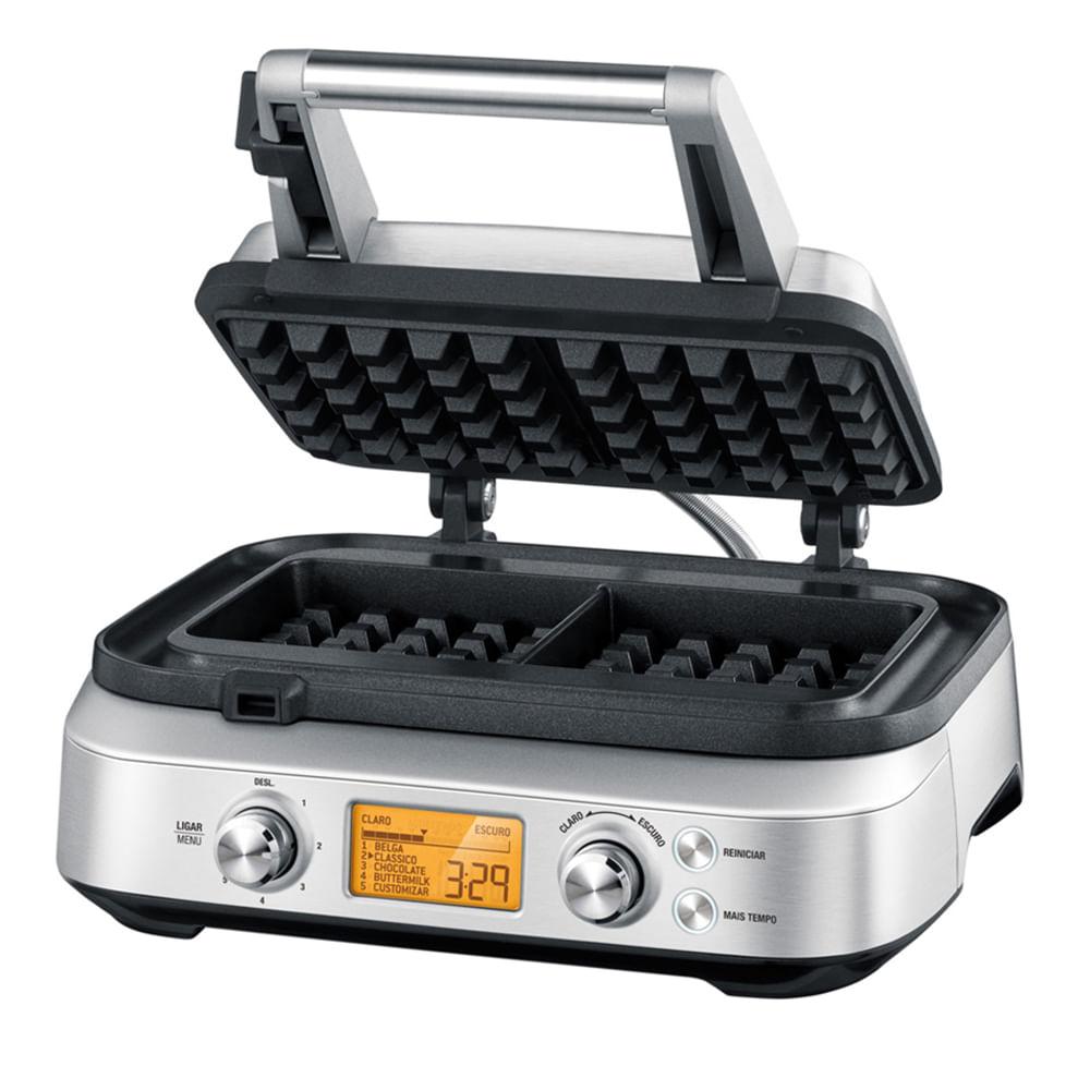 Máquina Waffle Smart Aço Inox 127V Prata Tramontina By Breville