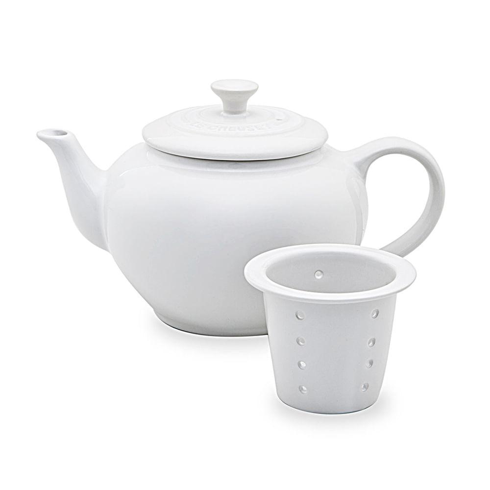 Bule de Chá com Infusor Branco Le Creuset