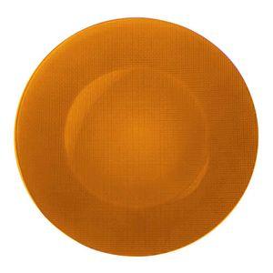 Sousplat-Bormioli-Vidro-laranja-31-cm