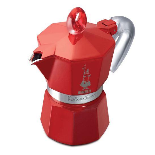 Cafeteira-Bialetti-Moka-Glossy-Aluminio-3-Xicaras-Vermelha