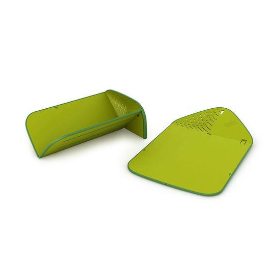 Tabua-Joseph-Joseph-de-Corte-Dobravel-com-Escorredor-Verde