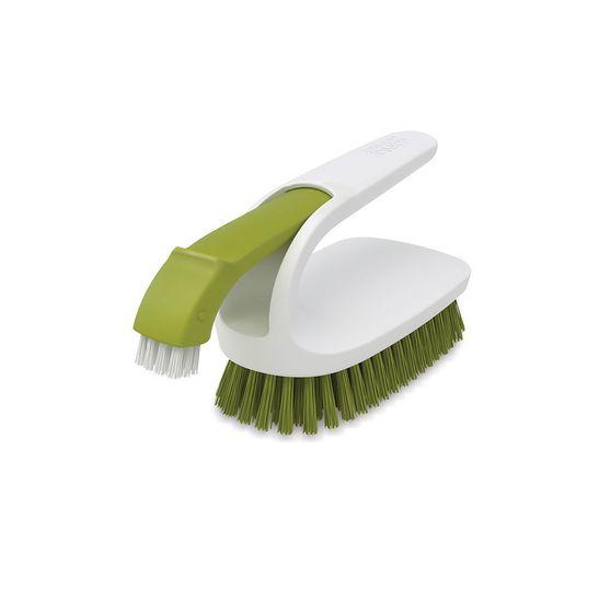 Escova-Joseph-Joseph-para-Limpeza-Multiuso-2-em-1-Verde