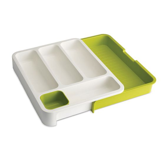 Organizador-Joseph-Joseph-para-Gaveta-de-Utensilios-Branco-Verde