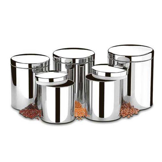 Conjunto-de-Potes-Brinox-para-Mantimentos-com-Tampa-Suprema-5-Pecas