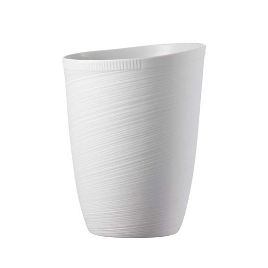 Vaso-Rosenthal-23-cm-Papyrus-Relief-Weiss