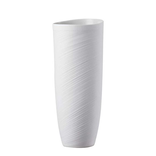 Vaso-Rosenthal-27-cm-Papyrus-Relief-Weiss