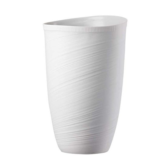 Vaso-Rosenthal-32-cm-Papyrus-Relief-Weiss