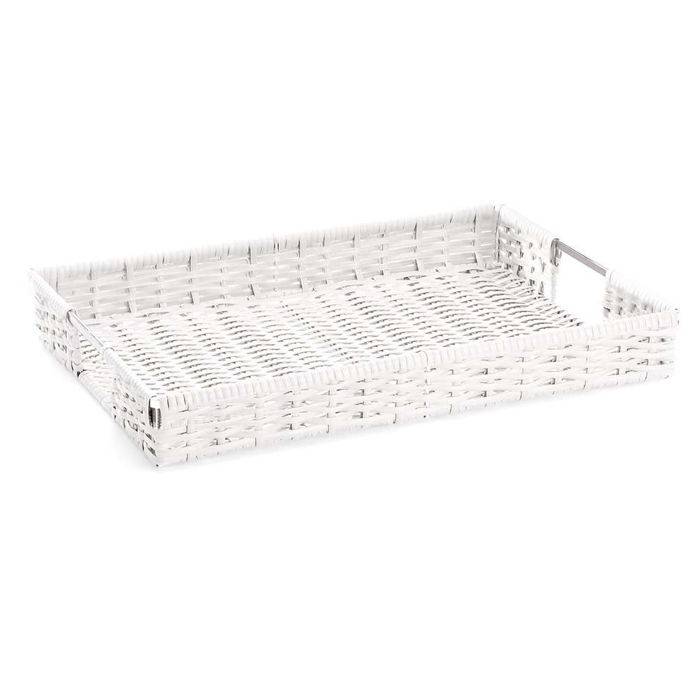 Bandeja Tramas Grande 51X40X7,0 cm Branco Forma