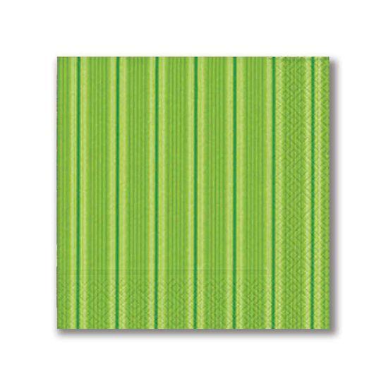 Guardanapo-Papper-Design-Basic-Unique-Stripes-Green-33X33