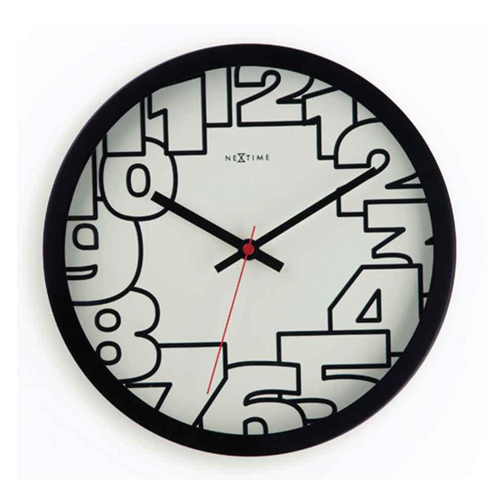 Relógio Luminate 25 cm Preto Nextime