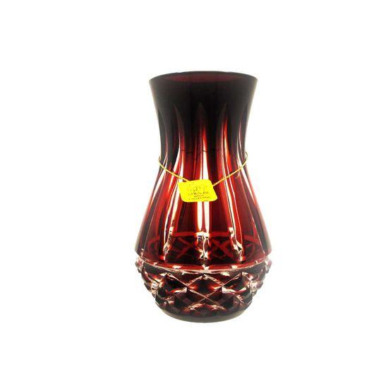 Vaso-Strauss-Cristal-12-cm-Vermelho