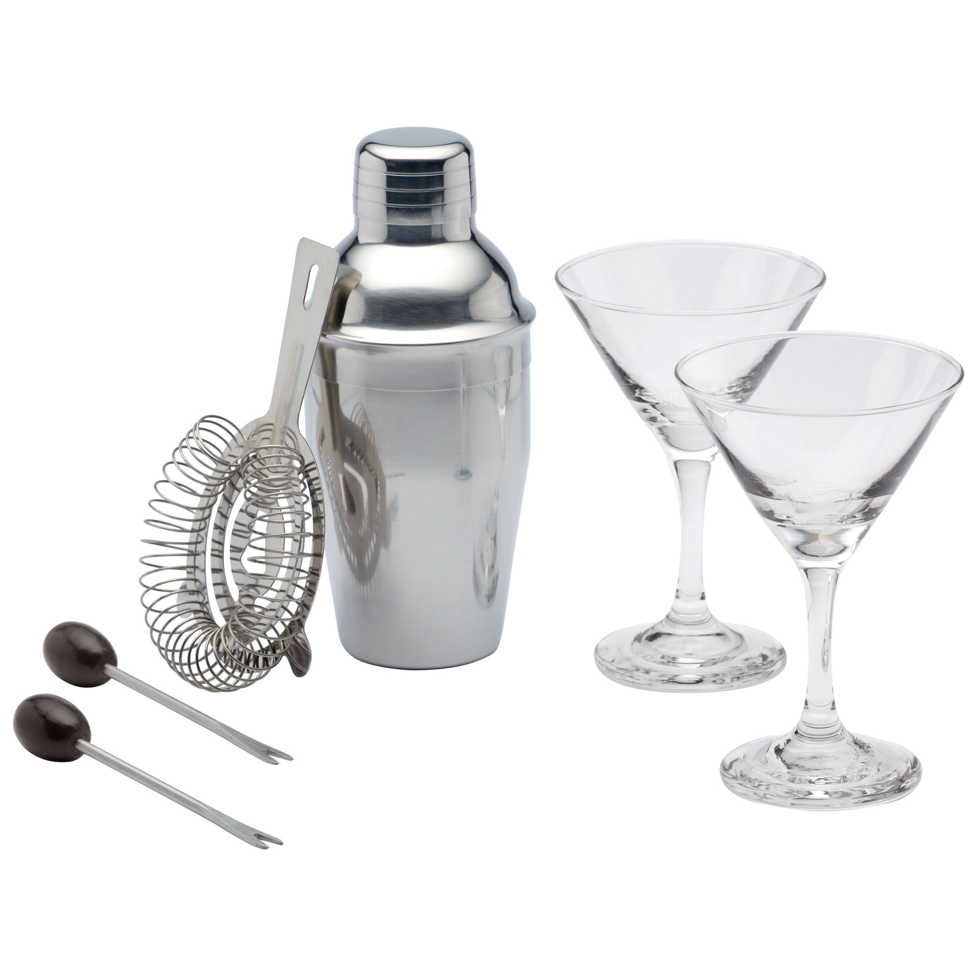 Conjunto Cocktail Bar Luxe Lounge Mini Martini 6 Peças Kitchen Craft