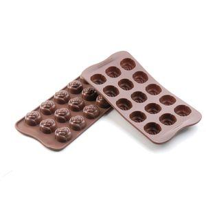 FORMA-ROSE-PARA-CHOCOLATE-DE-SILICONE-MARRON-SILIKOMART
