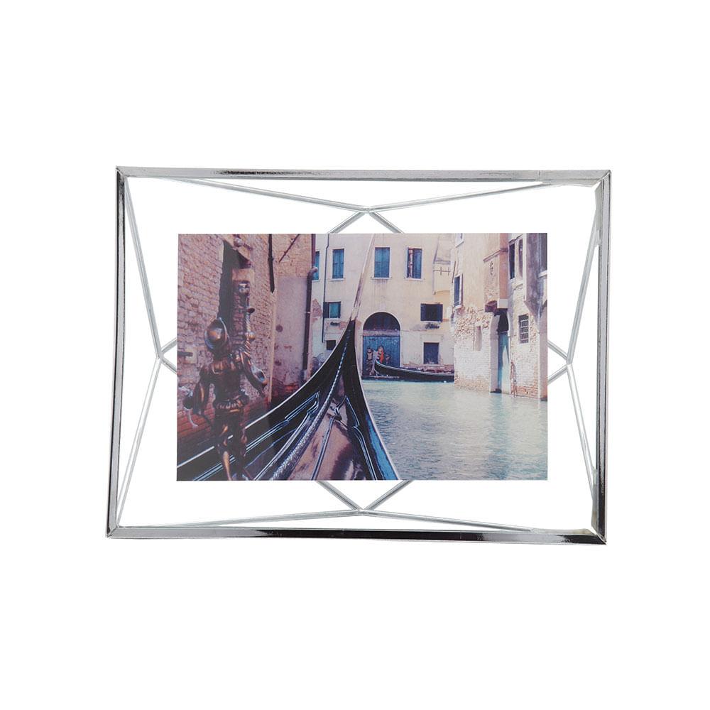 Porta Retrato Prisma 10X15 cm Cromado Umbra