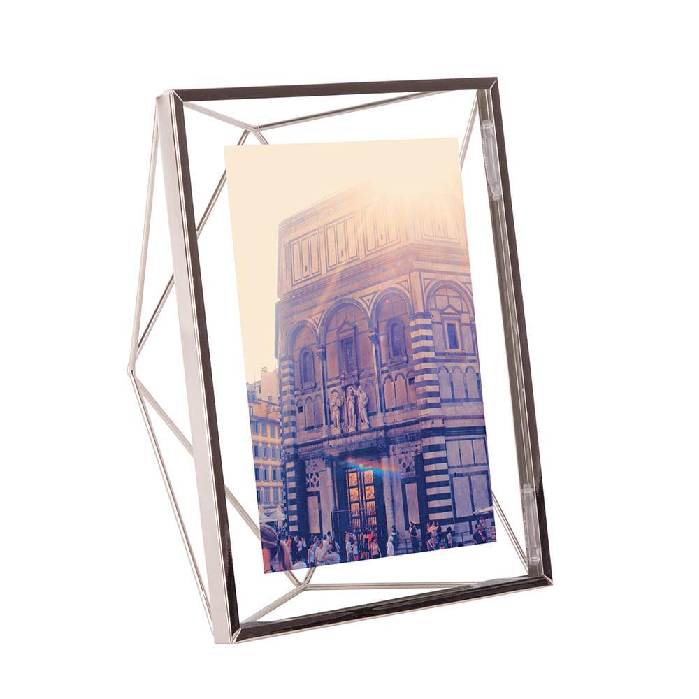 Porta Retrato Prisma 13X18 cm Cromado Umbra