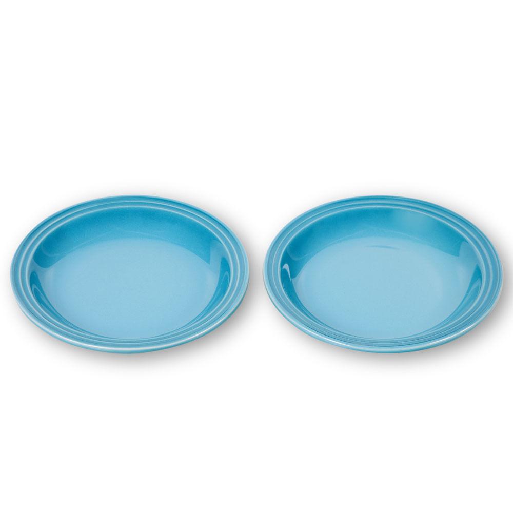 Prato Sobremesa 15 cm 2 Peças Azul Caribe Le Creuset