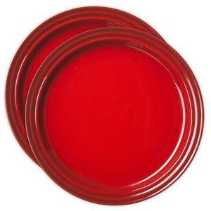 Prato-Le-Creuset-Redondo-23-cm-Vermelho