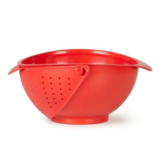 Escorredor-Tigela-Rinse-Vermelho-Umbra