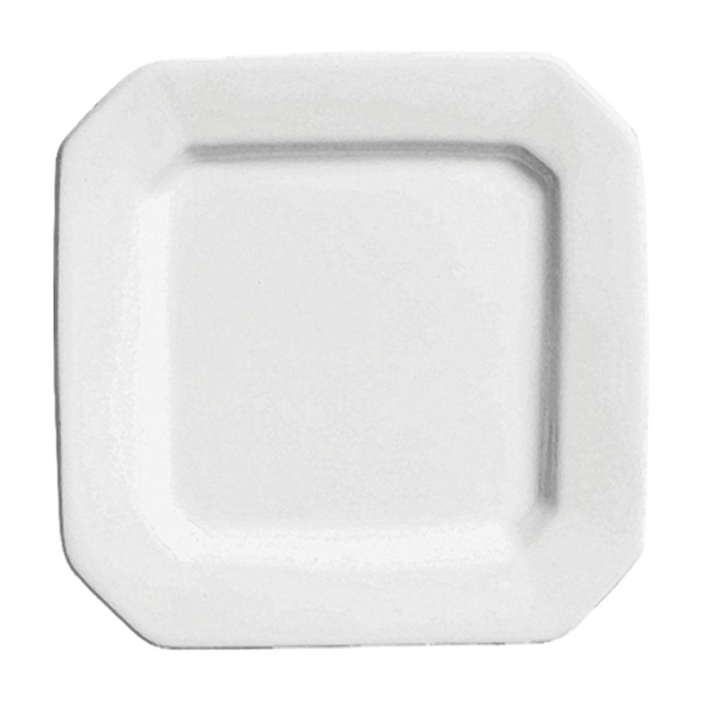 Prato Sobremesa Objeto Branco 6 Peças Scalla