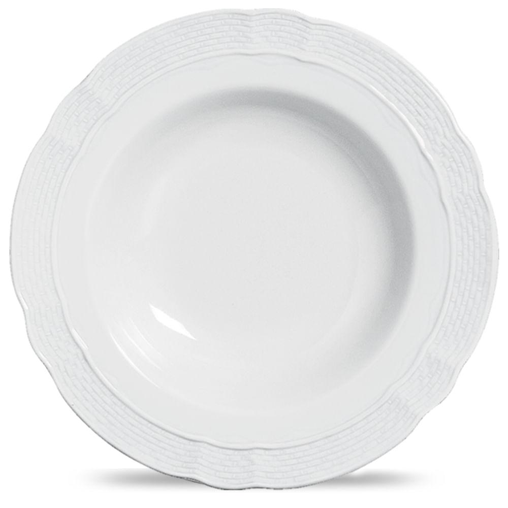 Sousplat Vanna Blanco Porcelana Branco Verbano
