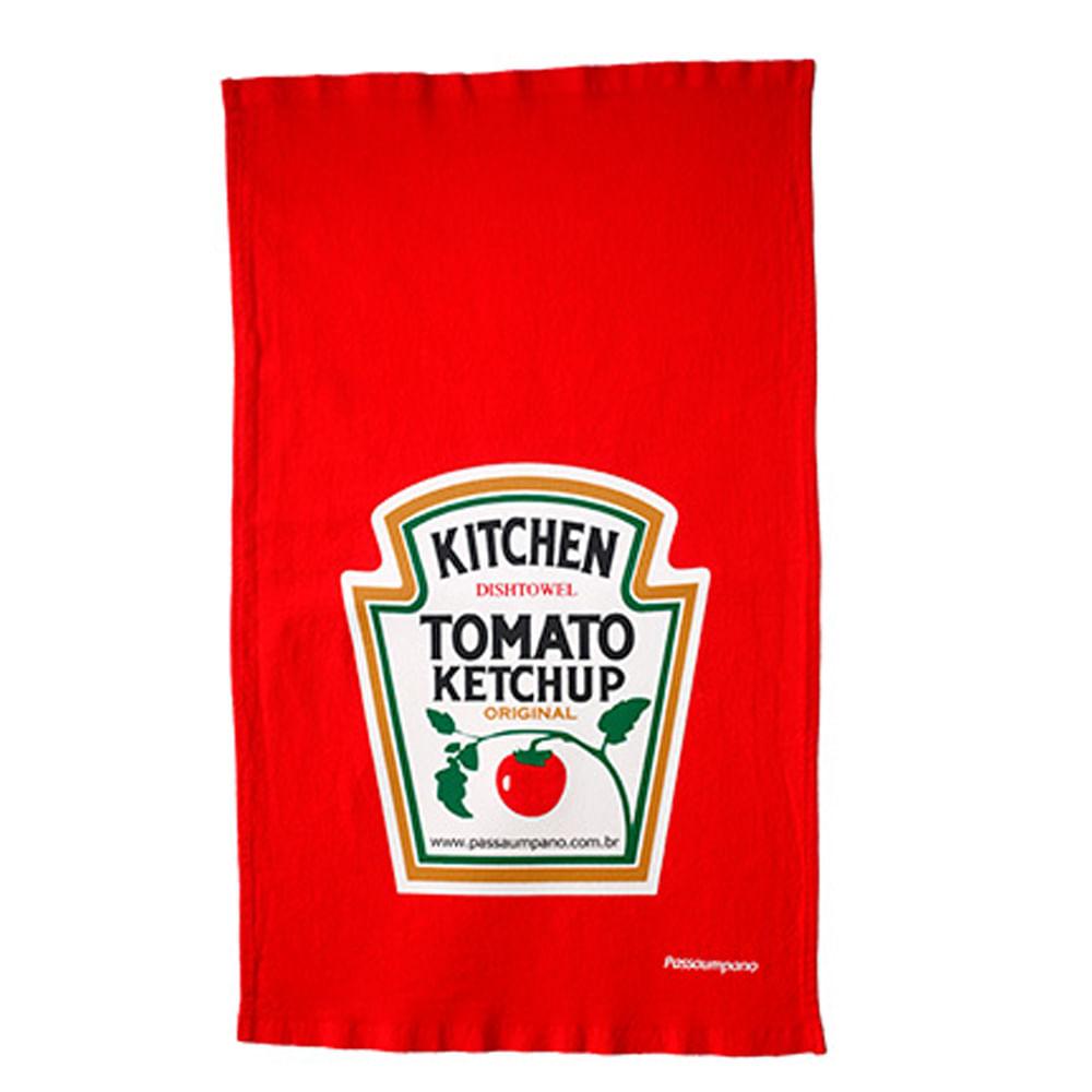 Passaumpano pano de prato ketchup algod o 68x40 for Porta ketchup
