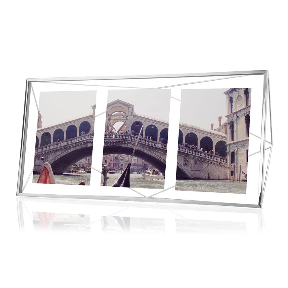 Porta Retrato Prisma Multi 10X15 Cromado Umbra