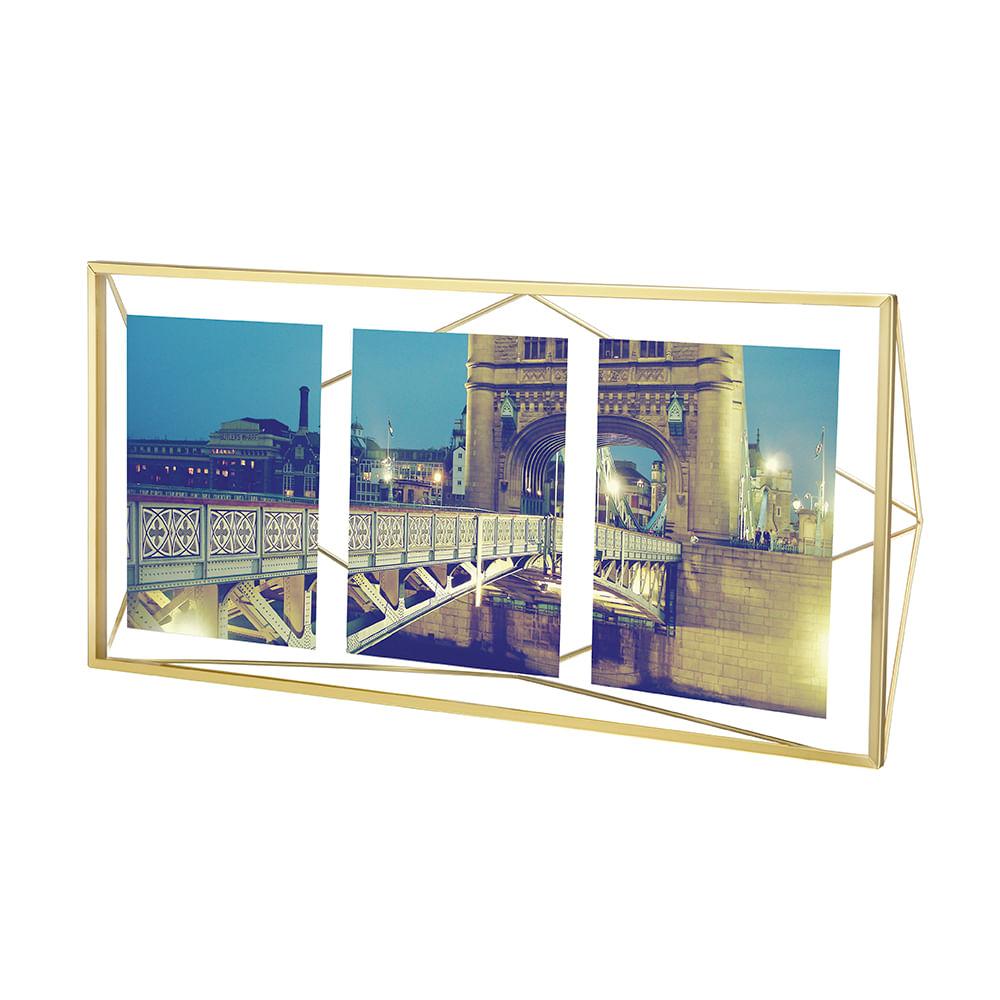 Porta Retrato Prisma Multi 10X15 Dourado Umbra