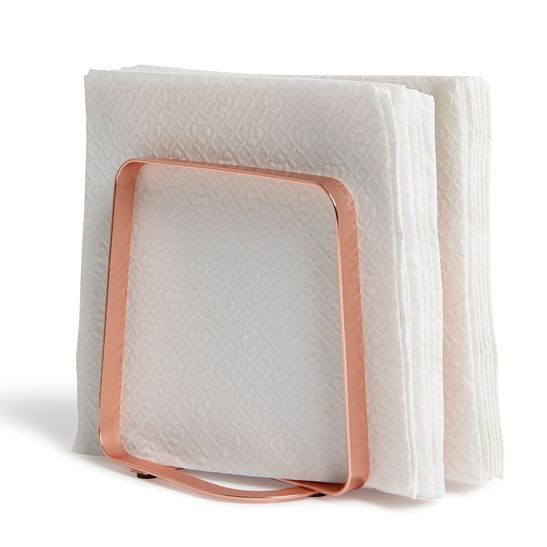 PORTA-GUARDANAPO-PULSE-NAPKIN-HOLDER-ROSADO-BRONZE-UMBRA