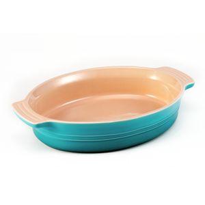 Travessa-Oval-28-cm-Azul-Caribe-Le-Creuset