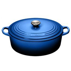 Panela-Oval-com-Pegador-Aco-Inox-27-cm-Azul-Lapis-Le-Creuset