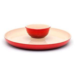 Prato-para-Aperitivo-Vermelho-Le-Creuset