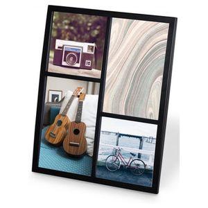 Porta-Retrato-Senza-Multi-para-4-Fotos-Cor-Preta-Umbra
