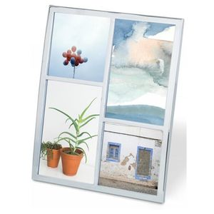 Porta-Retrato-Senza-Multi-para-4-Fotos-Cromada-Umbra