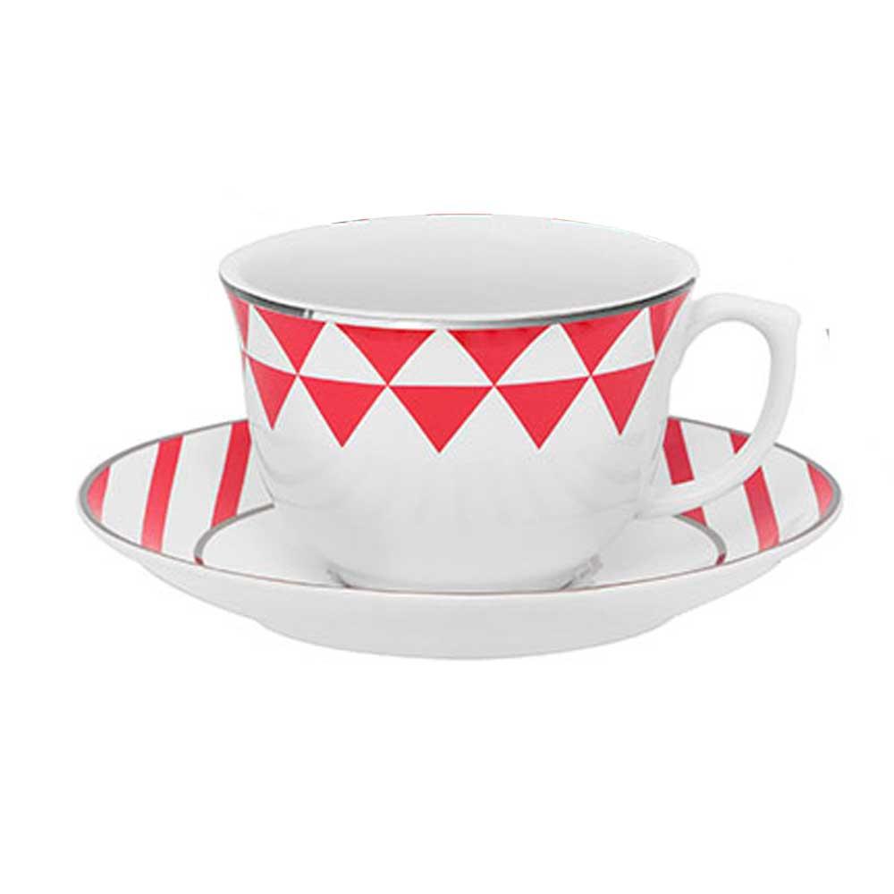 Xícara de Café com Pires Flamingo Baltic Porcelana 100 ml Oxford