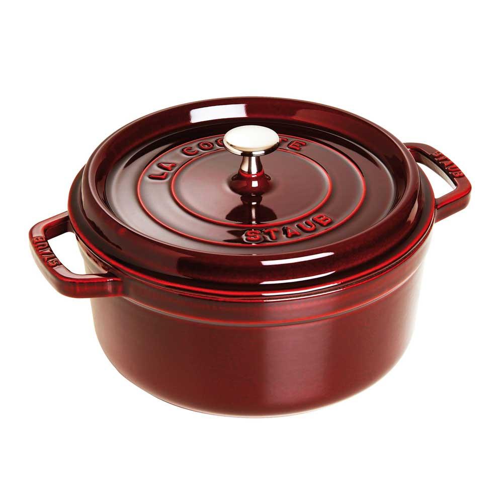 Caçarola Redonda Ferro Fundido 24 cm Vermelho Granada Staub