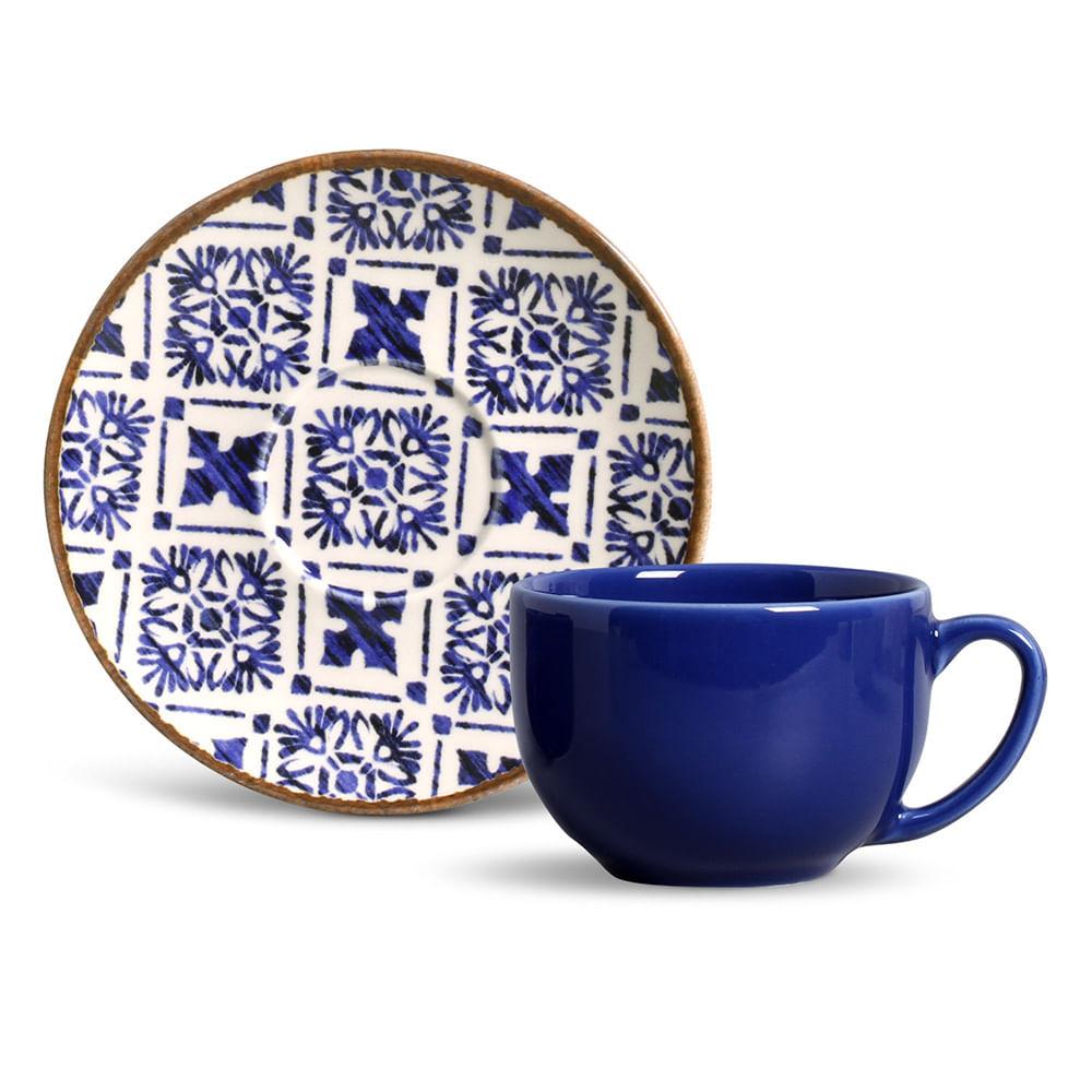 Xícara de Chá Coup Asteca Cerâmica 6 Peças Porto Brasil