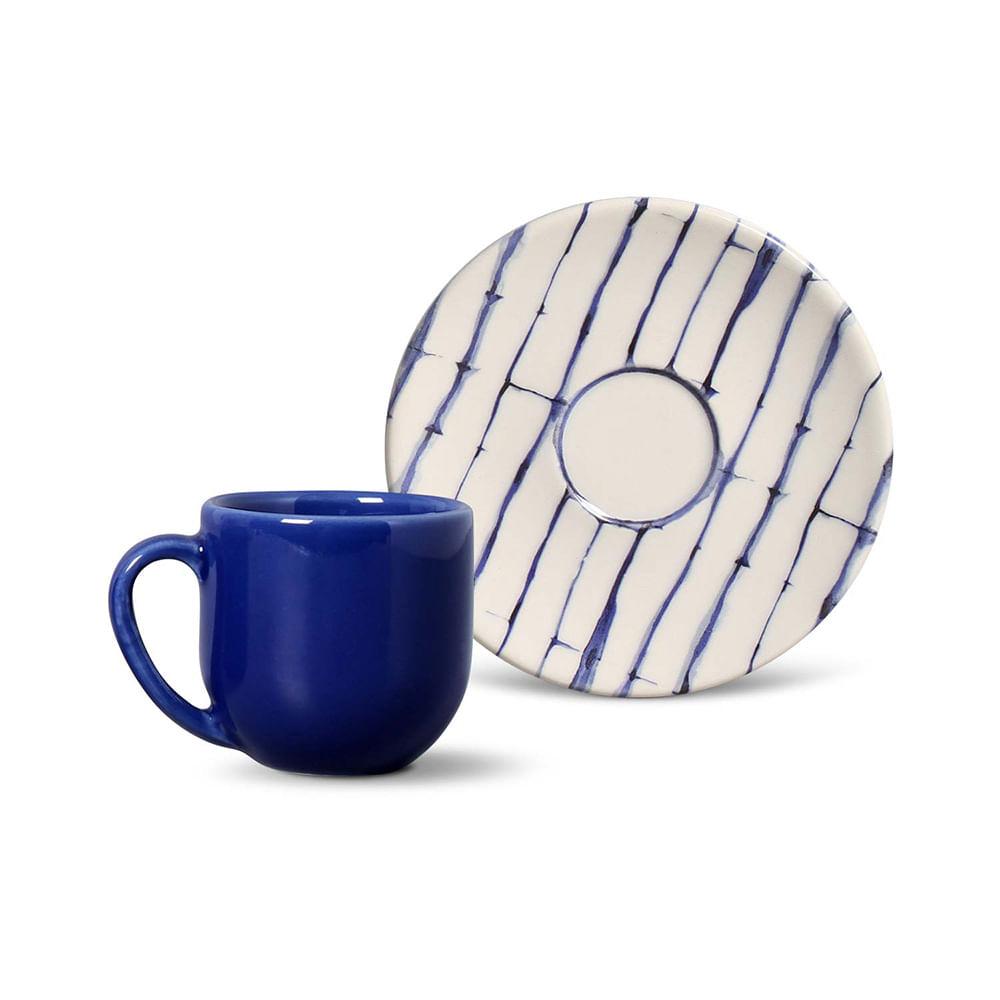 Xícara de Café Coup Tie Dye Cerâmica 6 Peças Porto Brasil