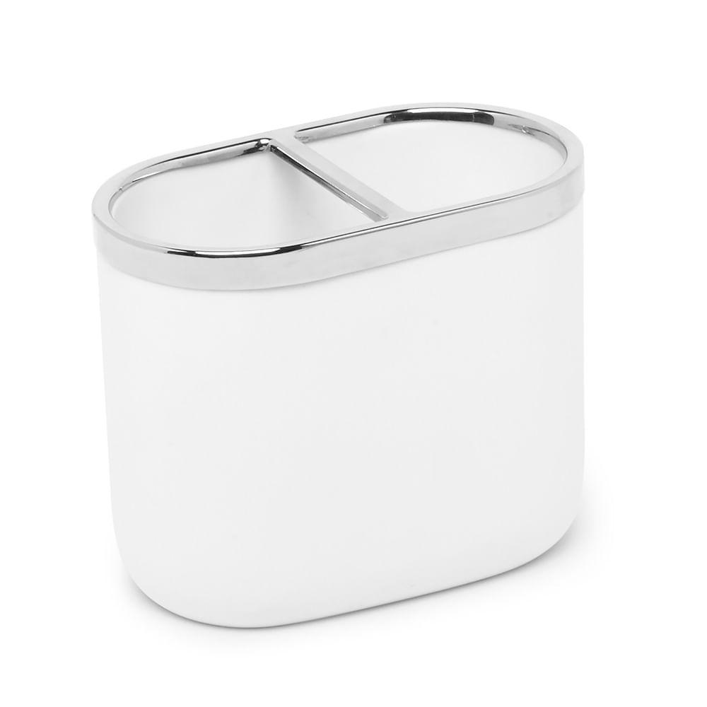 Porta Escova de Dentes Junip Resina  Branco Matte Umbra