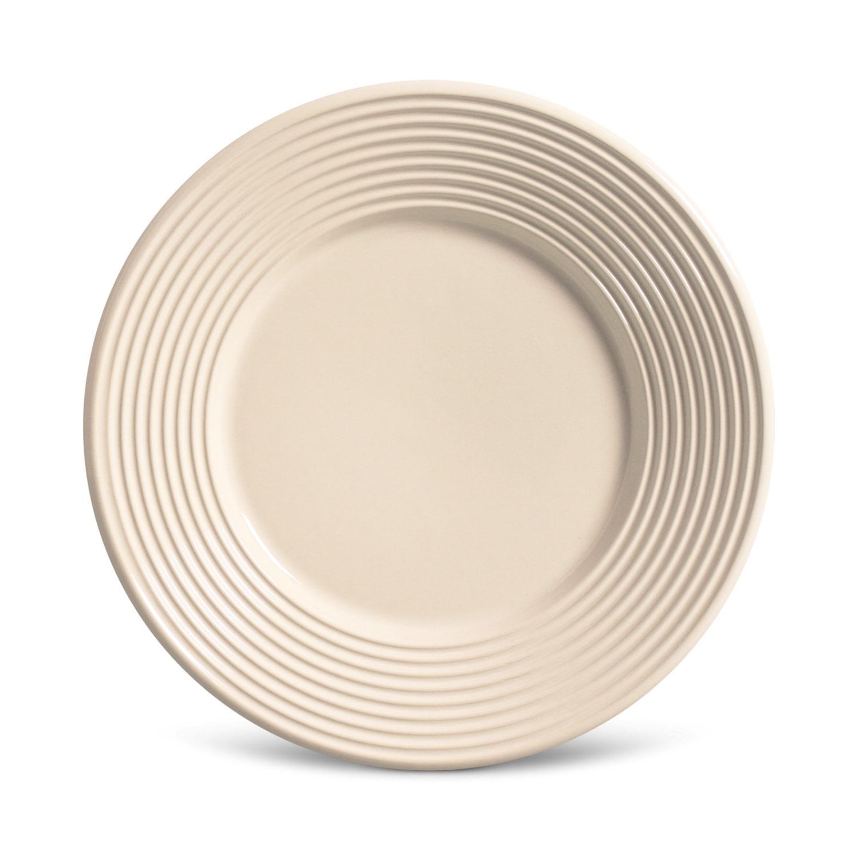 Prato Sobremesa Argos Cerâmica 6 Peças Cru Porto Brasil