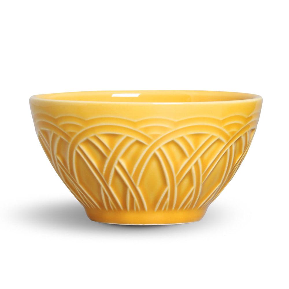 Bowl Cestino Cerâmica 6 Peças Mostarda Porto Brasil