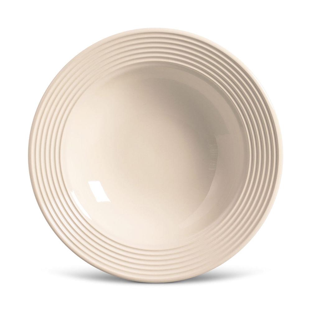 Prato Fundo Argos Cerâmica 6 Peças Cru Porto Brasil