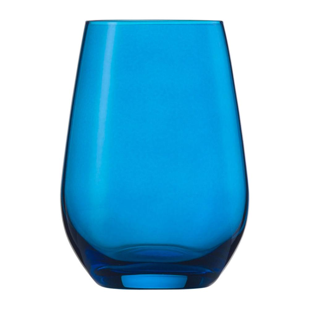 Copo Água e Suco Vina Spots 385 ml 6 Peças Azul Schott Zwiesel