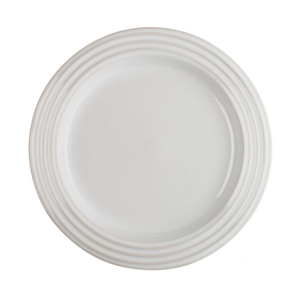 Prato Redondo 27 cm 2 Peças Branco Le Creuset