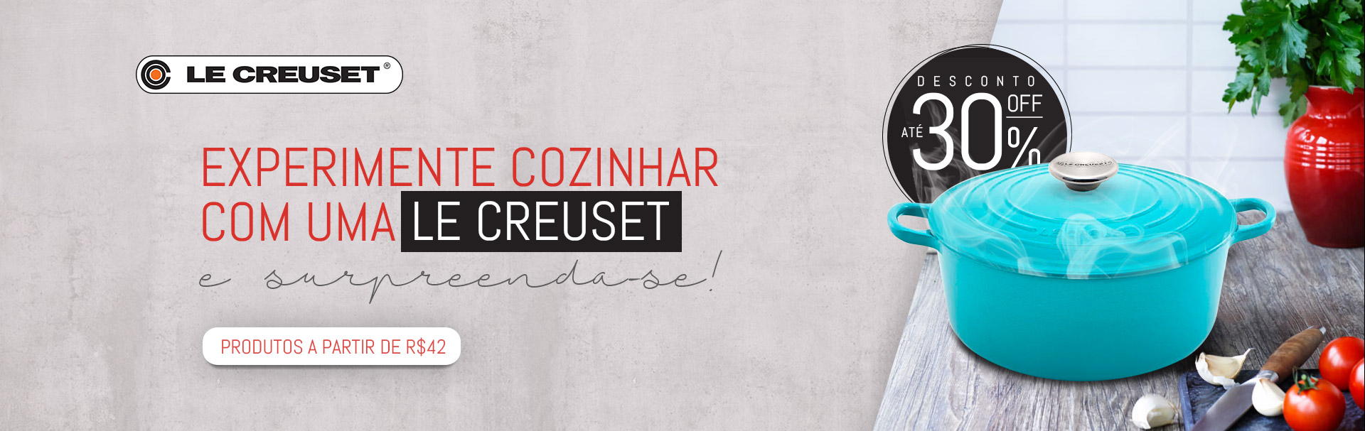 Le Creuset 25 Off - Abril/18