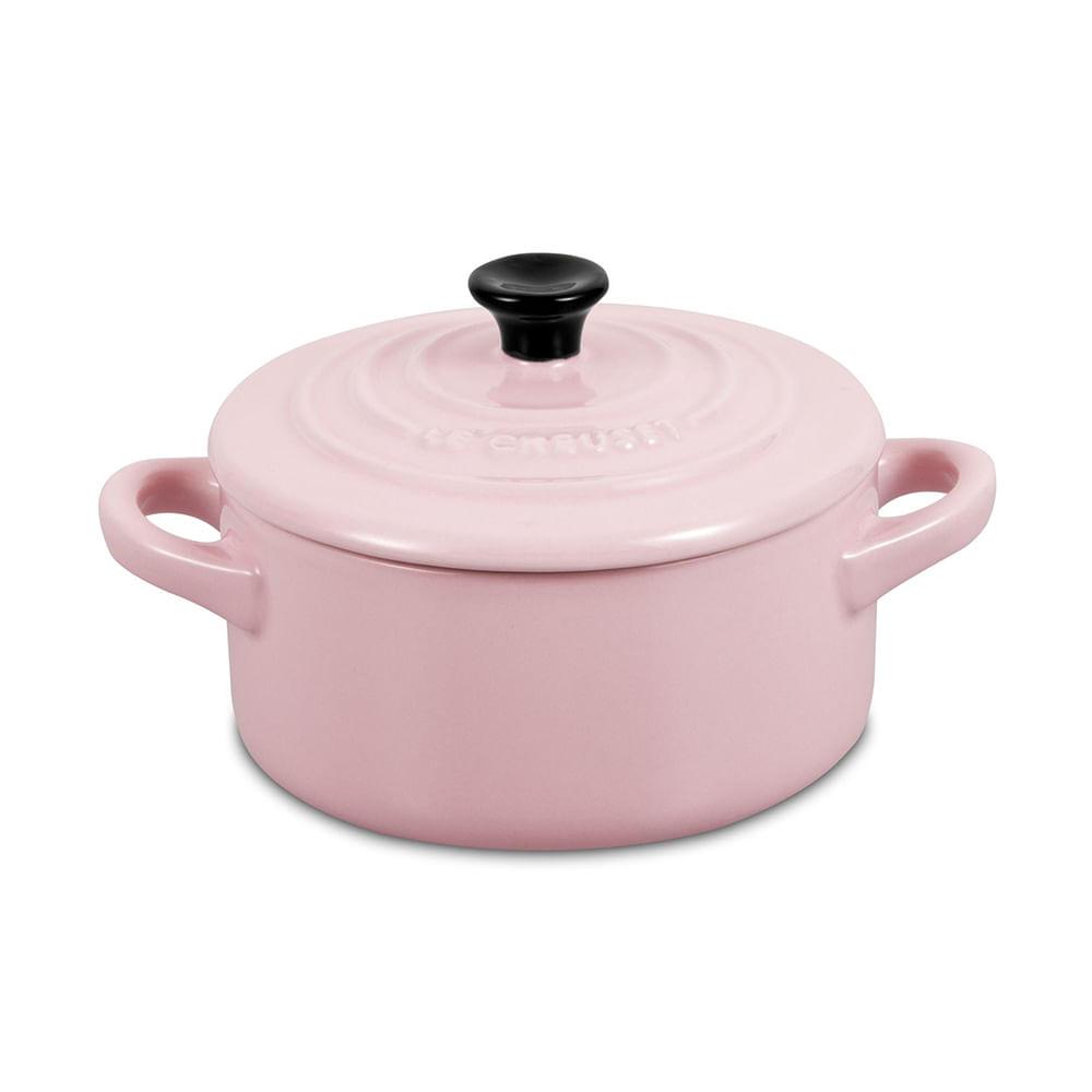 Mini Cocotte Cerâmica Rosa Chiffon Pink Le Creuset
