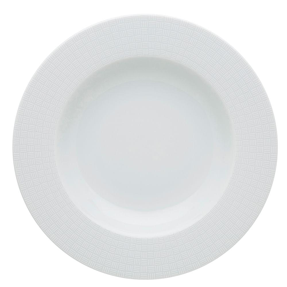 Prato Fundo City Porcelana Unidade Branco Vista Alegre Atlantis
