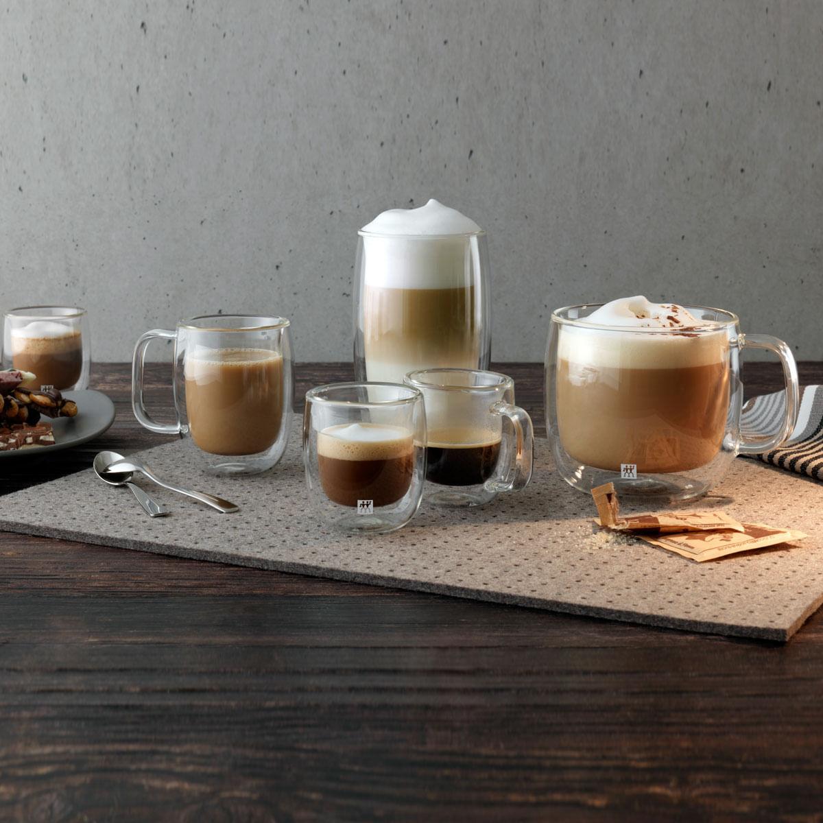 Caneca Espresso Sorrento com alça Plus 2 Peças Parede Dupla Vidro 80 ml Zwilling J.A. Henckels